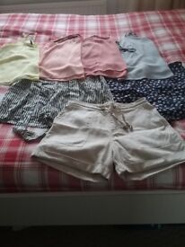 Ladies shorts and camis size 10/12