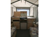 GREAT FAMILY 4 BERTH TAILER TENT, GOOD CONDITION