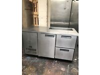 Commercial Williams bench fridge, pizza topping fridge