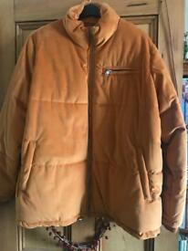 M&S Suede Mustard Coloured Puffa Jacket size 22 Originally £70