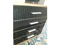 Black Door Wood Drawers - DELIVERY AVAILABLE