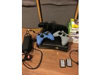 Xbox360 S bundle 26 games+steering wheel+peddles