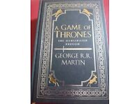 A Game of Thrones illustrated edition. Special anniversary edition