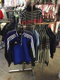 Shop fitting clothes rails