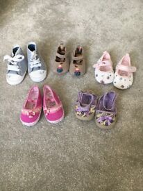 Baby Girl Shoes 5 Pairs age 3-6 months
