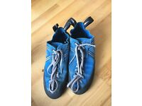 Royal blue laced climbing shoes, Size 6.5 UK
