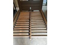 Used Double Wooden Bed (Mattress included)