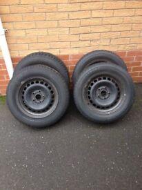 VW AUDI SKODA SEAT Winter Tyres and Steel Wheels 5 x 112 ET33