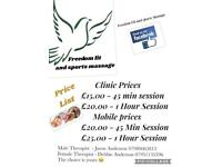 Deep tissue sports massage clinic