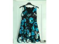 New with tags Lipsy London black floral dress size 14.