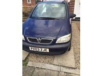 Vauxhall zafira 7 seater 9mnth mot