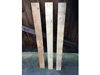 wooden boards recovered from pallets.