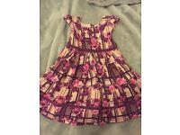 Girls Pumpkin Patch purple dress 12-18 months