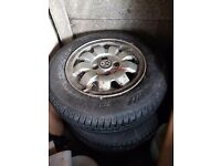 Vw Tarantula alloys with nearly new tyres sell swap px