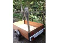WELL MADE 6FT X3FT TRAILER WITH LADDER /TIMBER RACK