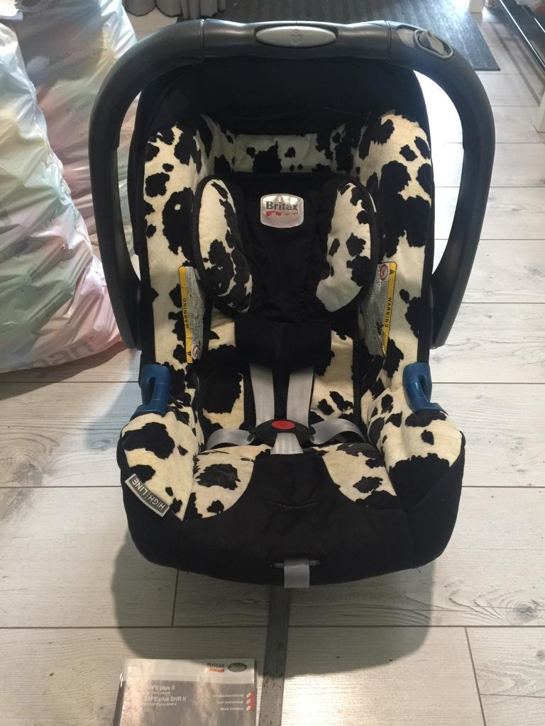 britax baby car seat 0 13kg cow print in larne county antrim gumtree. Black Bedroom Furniture Sets. Home Design Ideas