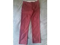 Hilfiger Denim Authentic Chinos, Red, Size 32