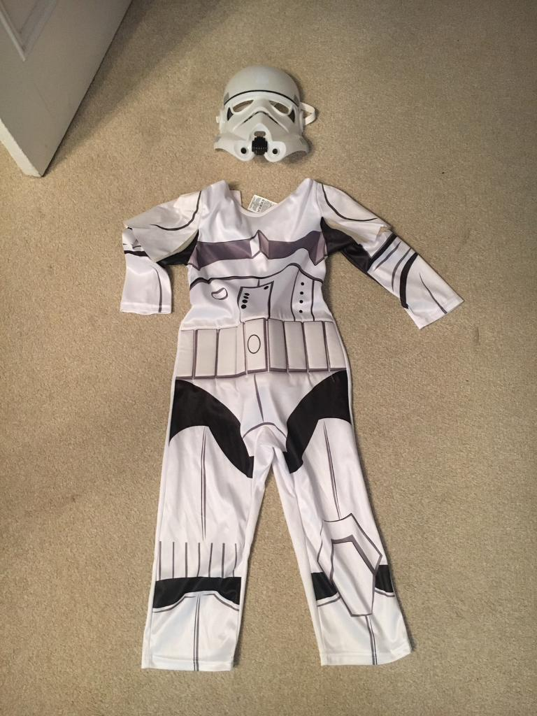 Age 3-4 Storm Trooper Outfit with Mask