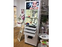 Lockable Shop Display Cabinet with LED Lighting