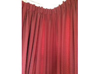 Two matching sets of fully lined curtains