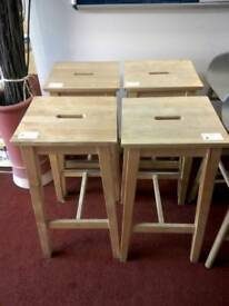 Wooden stools tcl £12 each