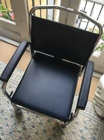 Like new Commode Adjustable with wheels - wheelchair RRP 300