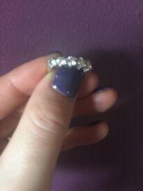 18ct gold diamond eternity ring size M