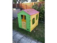 Plastic garden playhouse