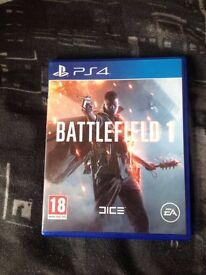 Battlefield 1 PS4 - £25 (Used once)