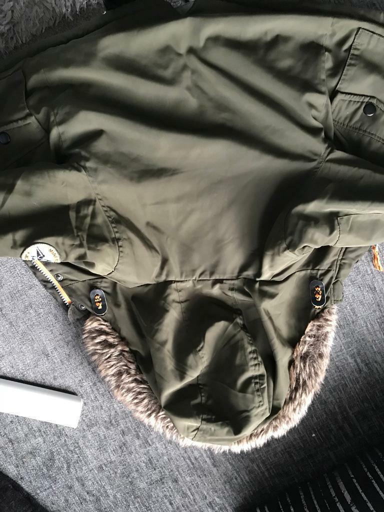 army green boys coat 12-18 month