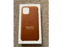 Genuine Apple iPhone 11 Pro Leather Case Saddle Brown - Brand New