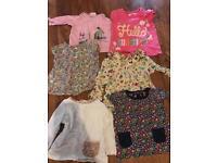 Baby girl tops bundle 0-6months