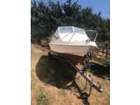 Shetland Sheltie 535 30hp Yamaha Four Stroke Outboard Fishing Boat