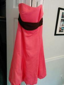 Alfred Angelo coral dress size 10