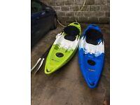 2 sit on top Feel Free Nomad kayaks