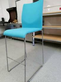 High Stool New Blue Fabric seat