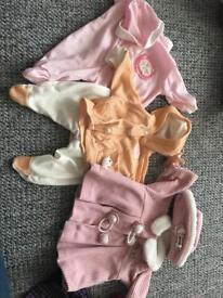 Baby Annabell Doll clothes bundle