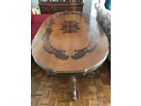 Italian Dining Table with Velvet 6 Chairs