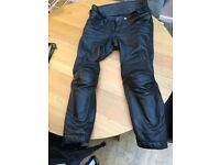Men's motorcycle jacket and trousers