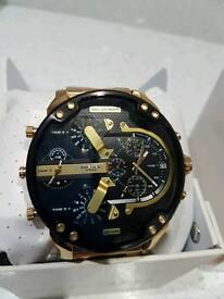 Mens big daddy 2.0 diesel dz7334 goldwatch