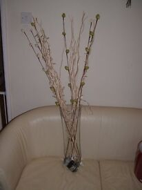 IKEA TALL VASE WITH LIGHT UP TWIGS