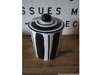 Storage jar by Mary Rose Young. Reckless designs 1995. Ceramic jar with lid. Lovely condition.