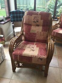 Wicker conservatory chairs for sale (3)