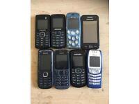 8 UNLOCKED B LINE PHONES