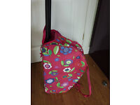 Girls TRIPP deep pink floral mix trolley hordall bag travelling, holidays etc. Lovely