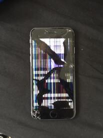 iPhone 6 16GB unlocked cracked screen