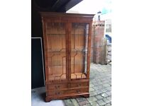 Beautiful wooden display cabinet