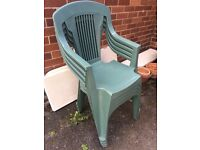 @4 GREEN GARDEN CHAIRS GOOD CONDITION@