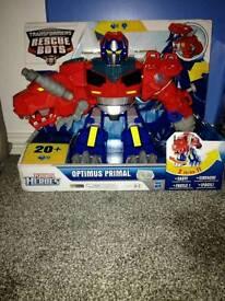 Optimus prime rescue bot