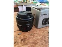 Canon 50mm 1.8 II EF Lens Mint Condition Used Twice